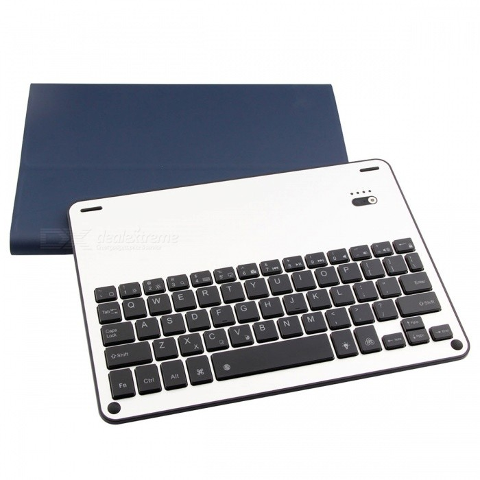 Backlight Keyboard PU Case for 2017 New iPad, Air, Air2 - Dark BlueIpad Keyboards<br>Form  ColorDeep BlueModel2003204Quantity1 pieceMaterialAluminum Alloy + PU + ABSShade Of ColorBlueCompatible ModelsIPAD AIR,Others,IPAD AIR 2,2017 New iPad/ Pro9.7Supports SystemiOSConnectionBluetoothBluetooth VersionBluetooth V3.0Keys64Operating Range10 mPowered ByBuilt-in BatteryBuilt-in Battery Capacity 450 mAhStandby Time30 daysCharging Time2-3 hoursWorking Time250 hoursPacking List1 x Keyboard PU Case1 x Charging Cable1 x Manual<br>