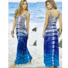 Sexy-Sleeveless-Slim-Thin-Long-Dress-Beach-Skirt-Blue-Grey-(L)