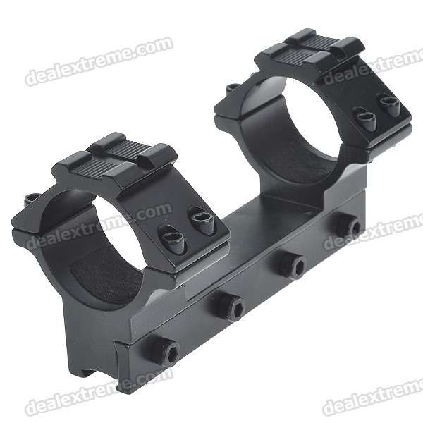 Dual Aluminum Alloy Bracket Flashlight and Laser Gun Mount with Hex Wrench for M16 (30MM-Caliber)Gun Mounts/Rails<br>Form  ColorBlackPacking List<br>