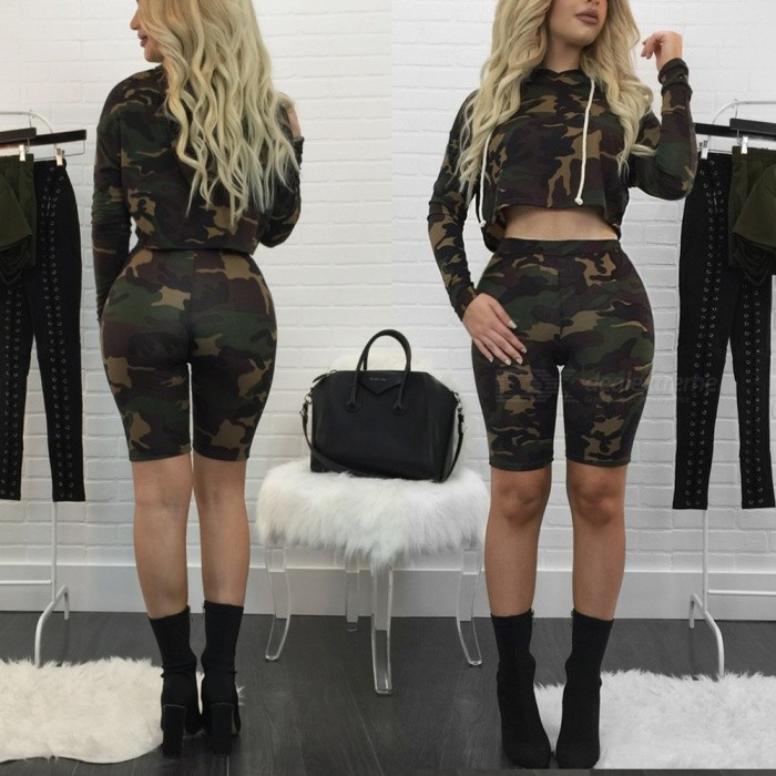 Buy Casual Leisure Fashion Camouflage Jacket Pants Suit (L) with Litecoins with Free Shipping on Gipsybee.com