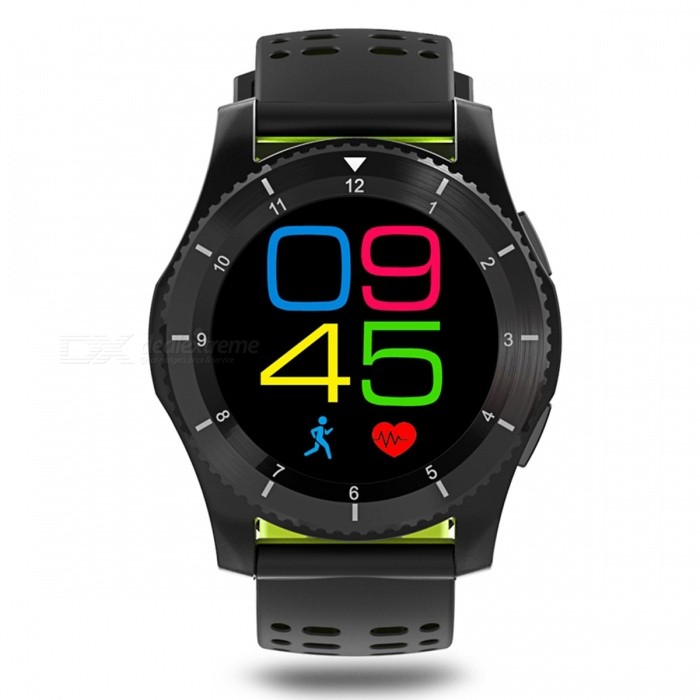 G8 Bluetooth Smart Watch with GPS Heart Rate Monitor - Black, GreenSmart Watches<br>Form  ColorBlack + GreenQuantity1 setMaterialABSShade Of ColorBlackCPU ProcessorMTK2502Screen Size1.3 inchScreen Resolution240 x 240Touch Screen TypeYesBluetooth VersionBluetooth V4.0Compatible OSAndroid OSLanguageChinese, Traditional, English, German, Spanish, Italian, French, Portuguese (Portuguese), Portuguese (Brazil), Russian, Indonesian, Malay, Polish, Vietnamese, Hebrew, Arabic, Persian , Thai, Burmese, TurksWristband Length22 cmWater-proofNoBattery ModeNon-removableBattery TypeLi-polymer batteryBattery Capacity300 mAhStandby Time10 daysPacking List1 x GS8 Bluetooth Smar1 x User manual<br>