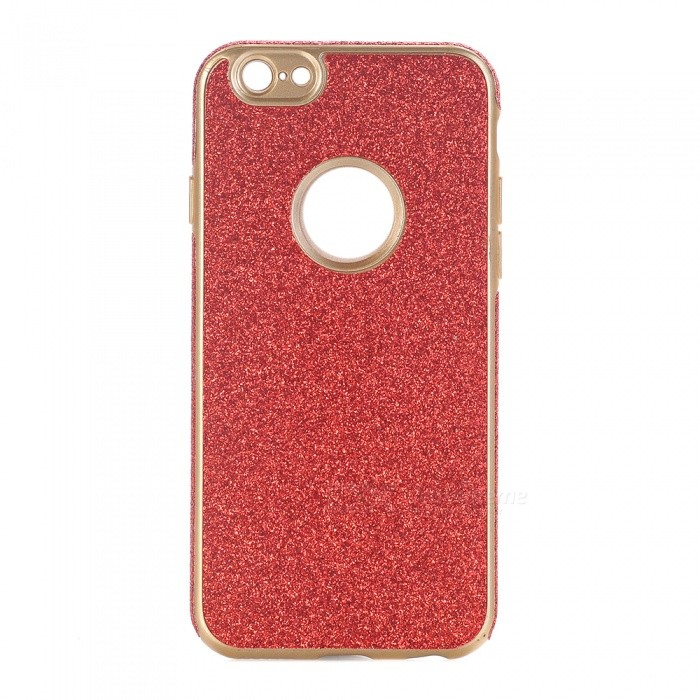 Brillante polvo decorado TPU caso trasero para IPHONE 6, 6S - Rojo