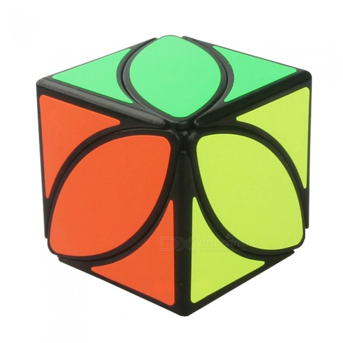 Creative Maple Leaf Pattern Magic Cube Spielzeug - Schwarz