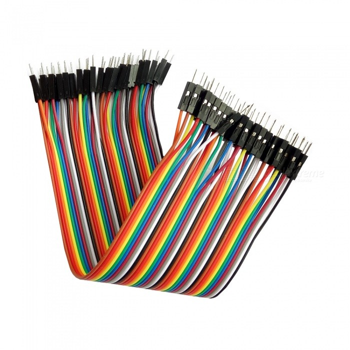 DIY Male to Male DuPont Adapter Cables - Multicolor (20cm, 40PCS)
