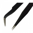 ESD Anti-static Stainless Steel Needle Tip, Curved Tip Tweezers Set