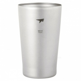 TI9221-320ML-Titanium-Travel-Cup-Mug-Tea-Double-Wall-Beer-Mug