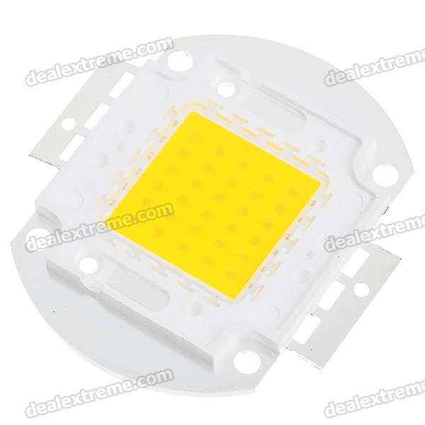 30W 2400LM LED Emitter Metal Plate - Warm White (16~18V)