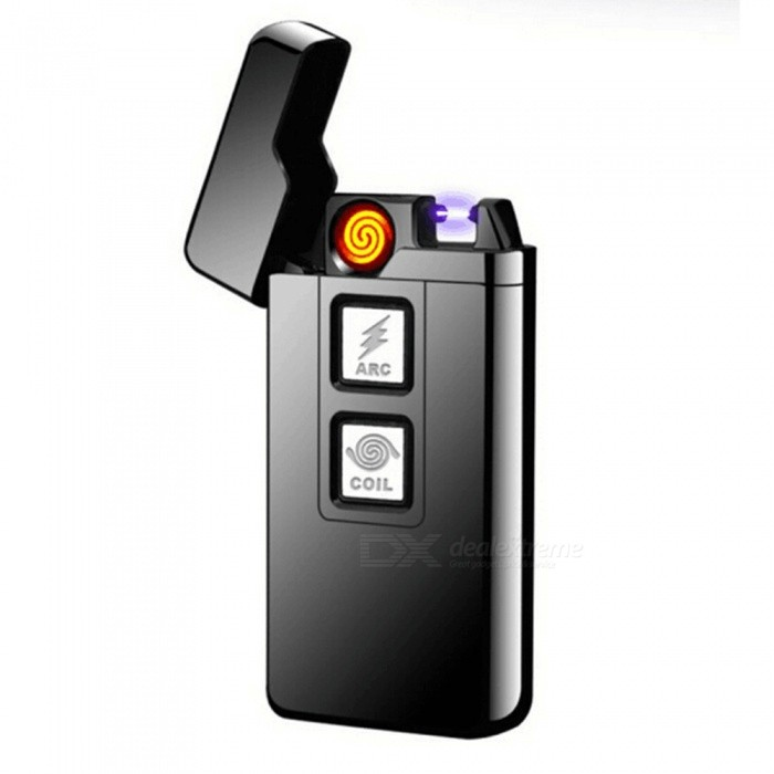 ZHAOYAO USB Charging Tungsten Filament Arc Lighter - BlackOther Lighters<br>Form  ColorBlackMaterialZinc alloyQuantity1 DX.PCM.Model.AttributeModel.UnitShade Of ColorBlackTypeUSBWindproofYesPower SupplyLithium batteryCharging Time1-2 DX.PCM.Model.AttributeModel.UnitPacking List1 x Lighter1 x USB cable<br>