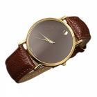 Unisex Yksinkertainen Casual Style Two-Pointer Quartz Watch-tummanruskea
