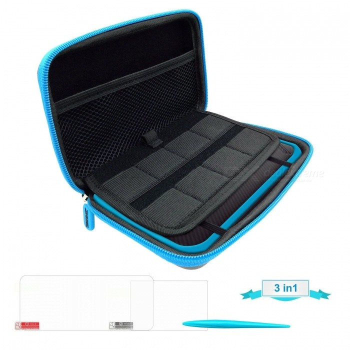 Buy Kitbon Travel 3 in 1 Protective Kit for Nintendo New 2DS XL 2DSLL with Litecoins with Free Shipping on Gipsybee.com