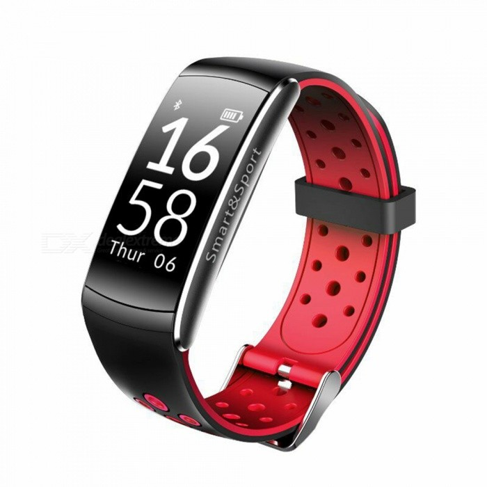 Q8-Bluetooth-Smart-Bracelet-with-Pedometer-Heart-Rate-Monitor-Red