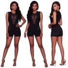 Fashion-Sexy-Splicing-One-Piece-Pants-Jumpsuit-Black-(XL)