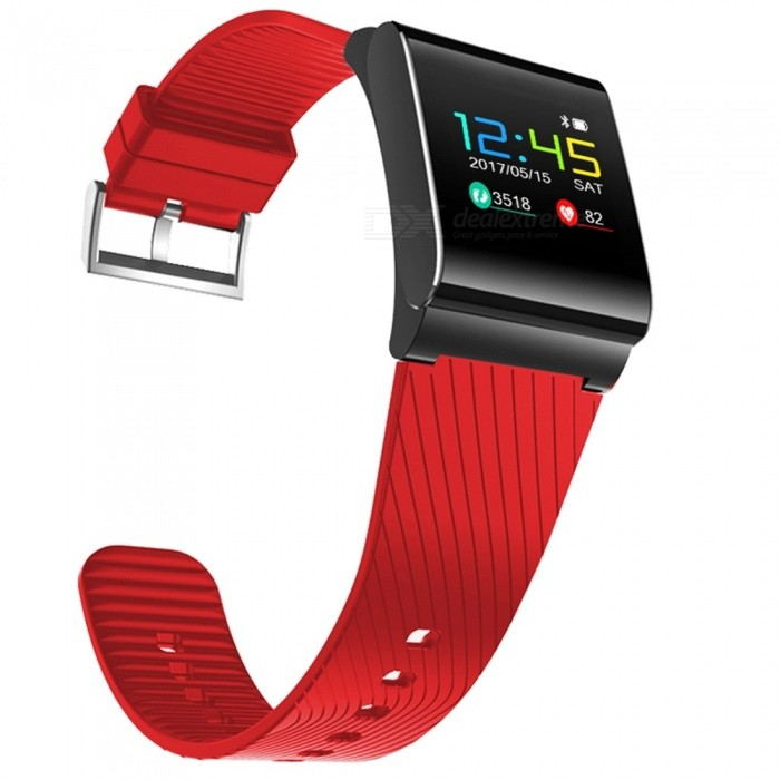 X9Pro Color OLED Smart Bracelet with Heart Rate Monitor - Red, BlackSmart Bracelets<br>Form  ColorRed + BlackQuantity1 DX.PCM.Model.AttributeModel.UnitMaterialABSShade Of ColorRedWater-proofIP67Bluetooth VersionBluetooth V4.0Touch Screen TypeYesCompatible OSAndroid system 4.4 version or above ;iOS system 8.0 version or above ;Support  bluetooth with 4.0 versionBattery Capacity105 DX.PCM.Model.AttributeModel.UnitBattery TypeLi-polymer batteryStandby Time15 DX.PCM.Model.AttributeModel.UnitPacking List1 x X9 Pro Smart Wristband1 x Charging Cable1 x User Manual<br>