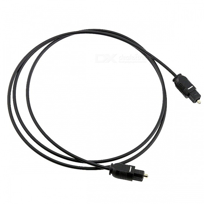 Kitbon 100cm OD2.2 Digital Optical Audio Toslink Cable - Black (1m)Audio And Video Cables<br>Form  ColorBlack (100cm)MaterialPVCQuantity1 DX.PCM.Model.AttributeModel.UnitShade Of ColorBlackCable Length100 DX.PCM.Model.AttributeModel.UnitConnector GenderMale to MaleConnectorFiber Optic,ToslinkOther FeaturesOD 2.2 Compatible with CD, D/A Converters, Dolby Digital DTS Surround sound receivers, DVD, MiniDisk players and recorders, Pro Audio cards, etc. Compatible with: ADAT, DAW, Dolby Digital, DTS devices with TosLink interface.Packing List1 x Kitbon Optical Cable<br>