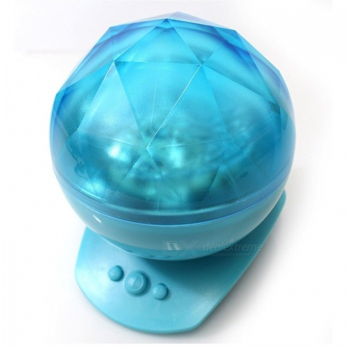 YWXLight Colorful Night Light Projector with Music Speaker - Blue
