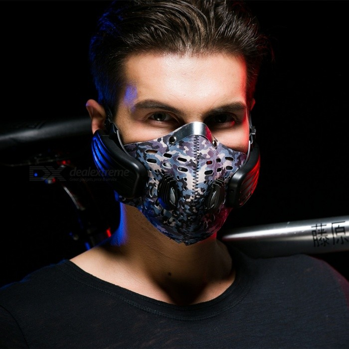 Training Mask Type Wireless Bone Conduction Headphone - BlueHeadphones<br>Form  ColorBlack + BlueBrandOthers,N/AModelLead-outMaterialABS + Cloth + PCQuantity1 DX.PCM.Model.AttributeModel.UnitConnectionBluetoothBluetooth VersionBluetooth V4.0Bluetooth ChipCSR8635Operating Range15MConnects Two Phones SimultaneouslyYesHeadphone StyleHeadband,Others,MaskWaterproof LevelIPX4Applicable ProductsUniversal,IPHONE 7,IPHONE 7 PLUSHeadphone FeaturesHiFi,Noise-Canceling,Volume Control,With Microphone,Portable,For Sports &amp; ExerciseRadio TunerNoSupport Memory CardNoSupport Apt-XYesChannels2.0SNR110±2dbSensitivity88dBmTHDFrequency Response2020KHzImpedance32 DX.PCM.Model.AttributeModel.UnitDriver Unit1W Bone Conduction speaker  *2Battery TypeLi-polymer batteryBuilt-in Battery Capacity 350 DX.PCM.Model.AttributeModel.UnitStandby Time15 DX.PCM.Model.AttributeModel.UnitTalk Time7 DX.PCM.Model.AttributeModel.UnitMusic Play Time7 DX.PCM.Model.AttributeModel.UnitPower AdapterUSBPacking List1 x Bluetooth Headset1 x USB Cable2 x Filters 1 x Fixed belt1 x User manual (English)<br>