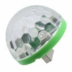 YWXLight Mini USB Crystal Ball Stage Light för telefon - Vit (DC 5V)