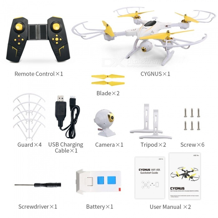 JJRC H39WH 720P Wi-Fi FPV Foldable RC Drone with APP Control - White