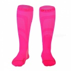 NUCKILY-Unisex-Elastic-Cycling-Long-Socks-Pink-(M)