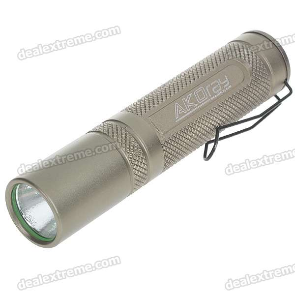 Akoray K-106 220-Lumen LED Flashlight w / CREE Q5-WC / clip (1 * AA / 1 * 14500)