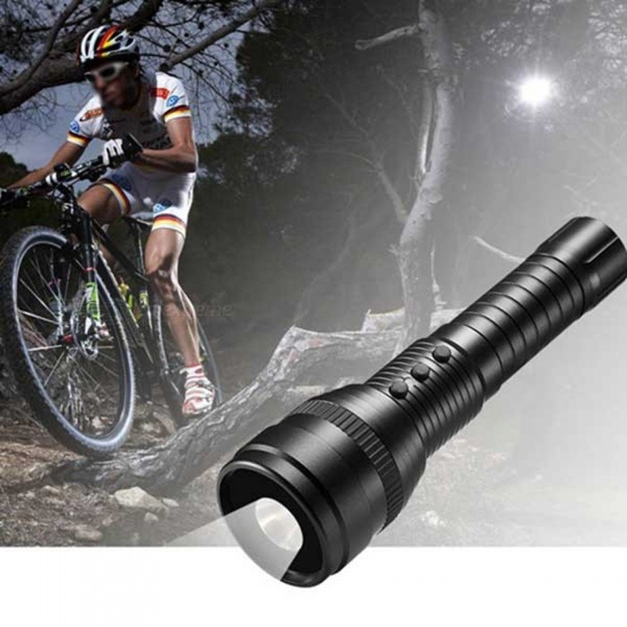 16GB Waterproof 1080P HD Strong Light Flashlight DV Camera - BlackCCTV Cameras<br>Form  ColorBlack + 16GB MemoryModelA1000MaterialAluminium alloyQuantity1 DX.PCM.Model.AttributeModel.UnitImage SensorCMOSBuilt-in Memory / RAM16GBPower AdaptorYesPower AdapterUS PlugPacking List1 x Flashlight/Camera Head1 x 16GB Memory1 x Battery1 x Wall plug charger1 x USB Cable1 x Bicycle mounting bracket1 x English manual<br>