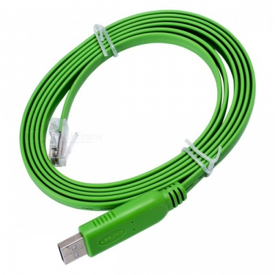 IOCREST IO-U2TORJ45 USB to RJ45 (RS232) Cisco Console Cable (1.8m)