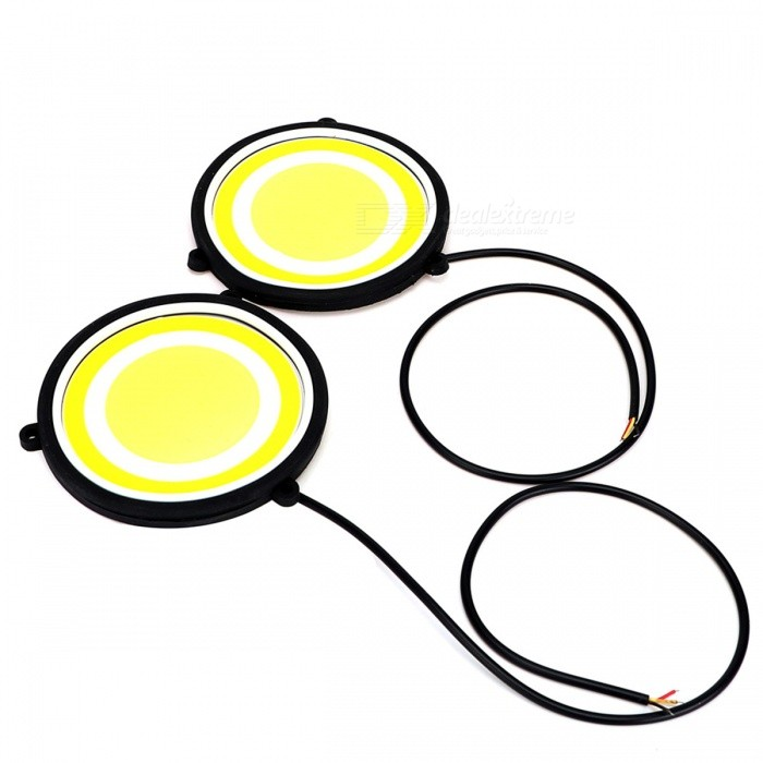 JRLED 10W Warm White, Cold White LED Running Light Car Driving LampsDecorative Lights / Strip<br>Color BINCold White + Warm WhiteModelN/AQuantity2 DX.PCM.Model.AttributeModel.UnitMaterialAluminum alloy + rubberForm  ColorBlack + YellowEmitter TypeOthers,COBChip BrandEpistarTotal Emitters1Color Temperature7000+3000K DX.PCM.Model.AttributeModel.UnitWavelengthN/A DX.PCM.Model.AttributeModel.UnitRate VoltageDC12VPower10WTheoretical Lumens1000 DX.PCM.Model.AttributeModel.UnitActual Lumens700 DX.PCM.Model.AttributeModel.UnitWater-proofIP65ApplicationIndicator lamp,Daytime running lightCertificationCE, RoHSPacking List2 x COB LED lamps2 x Double faced adhesive tapes<br>
