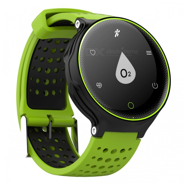 X2 IP68 Waterproof Smart Bracelet Fitness Tracker - Green, BlackSmart Bracelets<br>Form  ColorGreen + Black + Multi-ColoredQuantity1 DX.PCM.Model.AttributeModel.UnitMaterialABSShade Of ColorGreenWater-proofIP68Bluetooth VersionBluetooth V4.0Touch Screen TypeYesCompatible OSAndroid Bluetooth 4.0/IOSBattery Capacity380 DX.PCM.Model.AttributeModel.UnitBattery TypeLi-polymer batteryStandby Time180 DX.PCM.Model.AttributeModel.UnitPacking List1 x Smart bracelet1 x User manual1 x Data cable1 x Strap1 x Screwdriver<br>