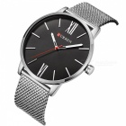 CURREN 8238 Ultra Thin Men Quartz Watch med Mesh Strap-silver
