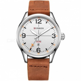 CURREN-8265-Mens-Causal-Quartz-Watch-with-Leather-Strap-Brown