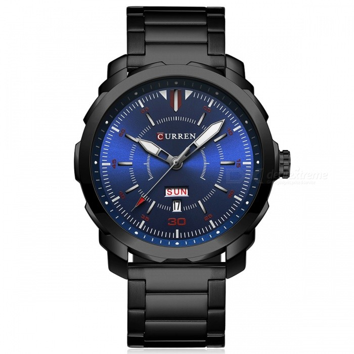 CURREN 8266 High-End Men's Quartz Watch with Alloy Strap - Black for sale for the best price on Gipsybee.com.