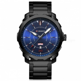 CURREN-8266-High-End-Mens-Quartz-Watch-with-Alloy-Strap-Black