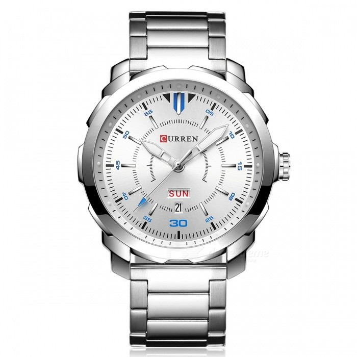 CURREN-8266-High-End-Mens-Quartz-Watch-with-Alloy-Strap-Silver