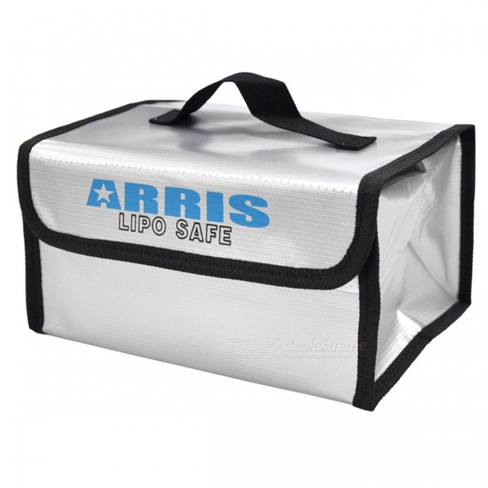 RC LiPo Battery Safety Bag Safe Guard Charge Sack 215*155*115m- SilverOther Accessories for R/C Toys<br>Form  ColorSilver White + BlackMaterialClothQuantity1 DX.PCM.Model.AttributeModel.UnitCompatible ModelRC LiPo BatteryPacking List1 * RC LiPo Battery Safety Bag<br>