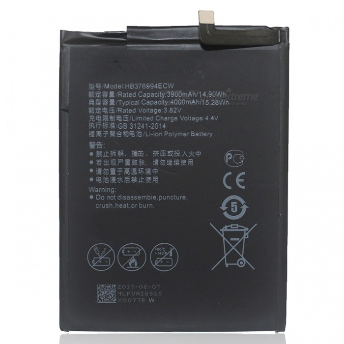 Replacement 4000mAh Battery for Huawei Honor V9 - Black