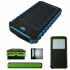 Ismartdigi-12LED-BL-12000mAh-Waterproof-Solar-Power-Bank-Blue