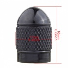 MZ Bullet Style Tire Valve Stem Caps for Car - Black (4 PCS)