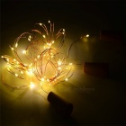 KWB 6Pcs varm vit flaska Shape Fairy String Lights med skruvmejsel