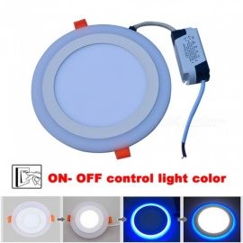 JIAWEN-Round-Shape-18W-3-Mode-LED-Downlight-Panel-Light-(AC-85-265V)-Blue-2b-White