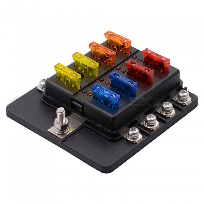 automotive fuse box south africa wiring - cs-579a2 car 8-way fuse box with led indicator ... #8