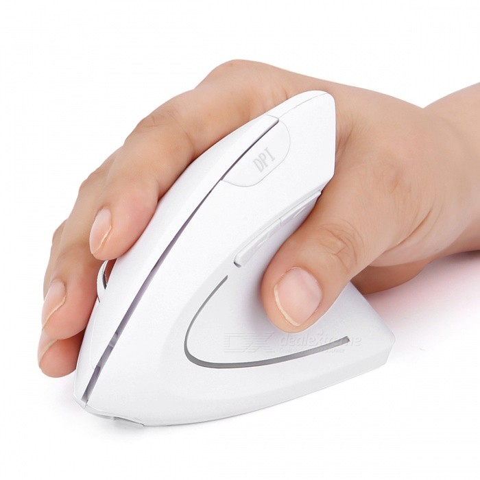 MODAO New Rechargeable Vertical Ergonomic 2.4G Wireless Mouse - WhiteWireless Mouse<br>Form  ColorWhiteModelE53Quantity1 DX.PCM.Model.AttributeModel.UnitMaterialABSShade Of ColorWhiteInterfaceUSB 2.0Wireless or Wired2.4G WirelessOptical TypeLEDResolution800-1200-1600Button life8 millionBluetooth VersionNoOperating Range10 DX.PCM.Model.AttributeModel.UnitPowered ByBuilt-in BatteryBattery included or notYesBattery Capacity500 DX.PCM.Model.AttributeModel.UnitSupports SystemWin xp,Win 2000,Win 2008,Win vista,Win7 32,Win7 64,Win8 32,Win8 64,MAC OS X,Linux,Android 2.x,Android 4.xTypeErgonomicPacking List1 x Ergonomic mouse1 x Nano receiver1 x Charging cable<br>