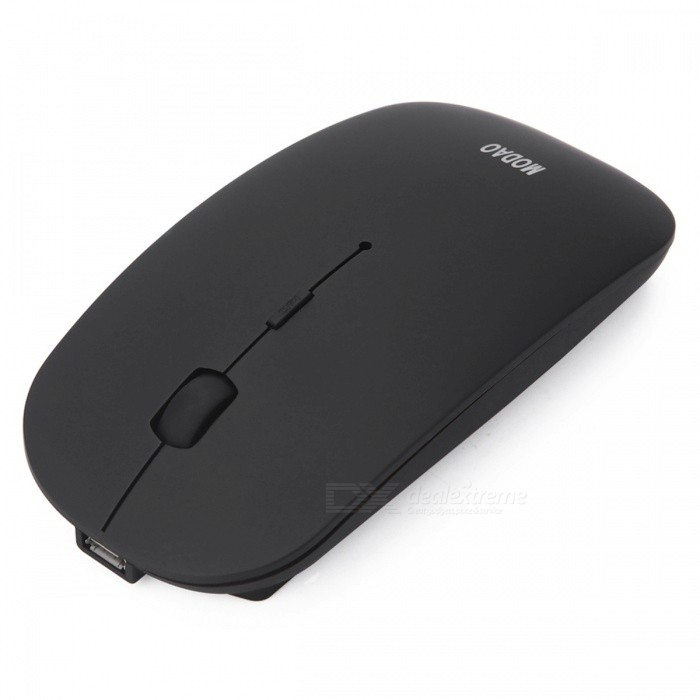 MODAO Slim Silent Rechargeable Bluetooth 3.0 Wireless Mouse - Black