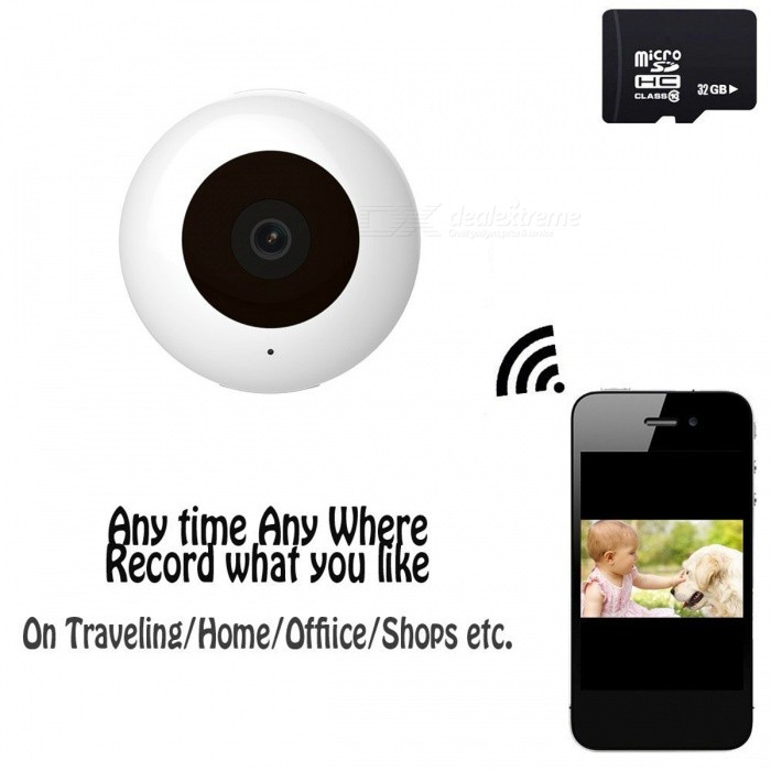 C2 16GB Mini HD Wi-Fi Wireless IP Camera Baby Monitor - WhiteCamcorders<br>Form  ColorWhite + 16GB Memory ModelC2Shade Of ColorWhiteMaterialABSQuantity1 DX.PCM.Model.AttributeModel.UnitImage SensorCMOSAnti-ShakeNoFocal Distance8 DX.PCM.Model.AttributeModel.UnitFocusing Range8CMEffective Pixels1280 x 720PMax. Pixels1280 x 720 DX.PCM.Model.AttributeModel.UnitPicture FormatsJPEGStill Image Resolution1280 x 720PVideo FormatAVI,MP4Video Resolution1280 x 720PVideo Frame Rate30Cycle RecordYesISONoExposure CompensationNoSupports Card TypeTFSupports Max. Capacity32 DX.PCM.Model.AttributeModel.UnitBuilt-in Memory / RAM16GBLCD ScreenNoBattery included or notYesBattery Measured Capacity 220 DX.PCM.Model.AttributeModel.UnitNominal Capacity220 DX.PCM.Model.AttributeModel.UnitBattery TypeLi-polymer batteryWaterproofNoPacking List1 x Mini Wi-Fi Camera1 x Magnetic Rotation Mount1 x Magnetic Pad1 x Sticker1 x USB Cable1 x Manual 1 x 16G Memory Card<br>