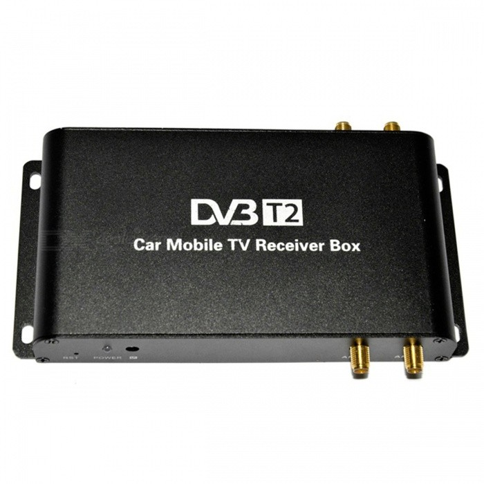 Car DVB-T2 H.265 HEVC TV Receiver with 4 Antennas - Black