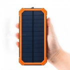 """30000mah"" soldriven batteribank + kompass - orange"