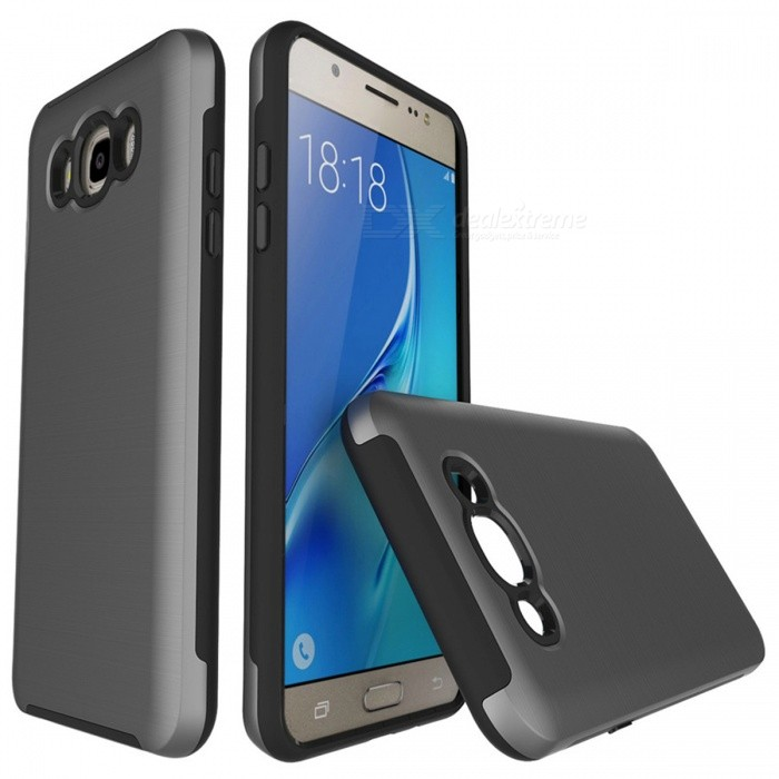 Protective Wire Drawing PC TPU Case for Samsung Galaxy J510 - GreyPlastic Cases<br>Form  ColorGreyModelN/AMaterialPC + TPUQuantity1 DX.PCM.Model.AttributeModel.UnitShade Of ColorGrayFeaturesAnti-slip,Dust-proof,Shock-proof,Abrasion resistance,Easy-to-removeCompatible ModelsSamsung Galaxy J5 / J510 (2016)Packing List1 x Case<br>