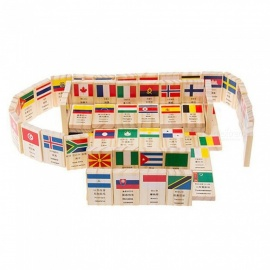MAIKOU-Wooden-Dominoes-with-Flag-and-World-Pattern-(100-PCS)