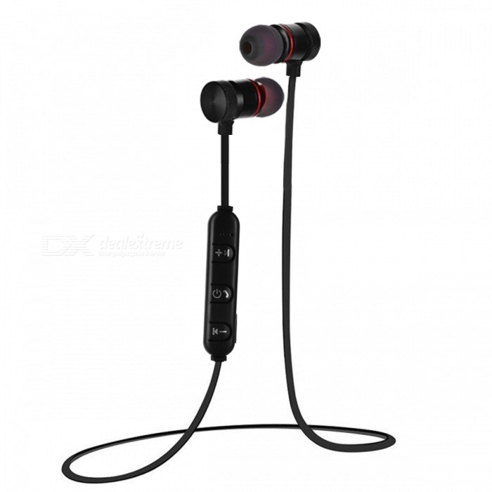 Bluetooth Wireless Earbuds Earphone for Sports - BlackOther Bluetooth Devices<br>Form  ColorBlackModelN/AMaterialTitanium alloy + plasticQuantity1 DX.PCM.Model.AttributeModel.UnitShade Of ColorBlackBluetooth VersionBluetooth V4.0Bluetooth ChipJIANRONGOperating Range10MStandby Time10 DX.PCM.Model.AttributeModel.UnitApplicable ProductsPS3,IPHONE 5,IPHONE 4,IPHONE 4S,IPHONE 3G,IPHONE 3GS,IPOD,IPAD,Universal,Digital Camera,Cellphone,GPS,MP3,PDA,MP4,Tablet PC,IPHONE 5S,IPHONE 5CBattery TypeOthers,Polymer lithium batteryBuilt-in Battery Capacity 100 DX.PCM.Model.AttributeModel.UnitPower AdapterUSBPower Supply5V 0.8APacking List1 x Bluetooth Earphone<br>
