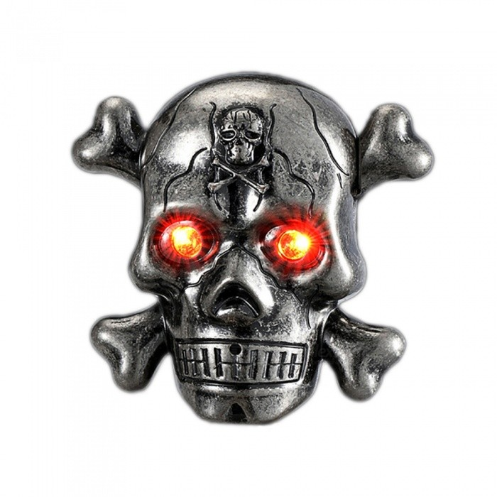 ZHAOYAO Cigarette Electronic Lighter Skull Head USB LED - SilverOther Lighters<br>Form  ColorSilverQuantity1 DX.PCM.Model.AttributeModel.UnitShade Of ColorSilverTypeUSBPower SupplyLithium batteryCharging Time2 DX.PCM.Model.AttributeModel.UnitPacking List1 x Lighter1 x Data line<br>