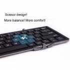 Magnetisk Tri-Folding Slim Bluetooth Keyboard för IOS Android Windows